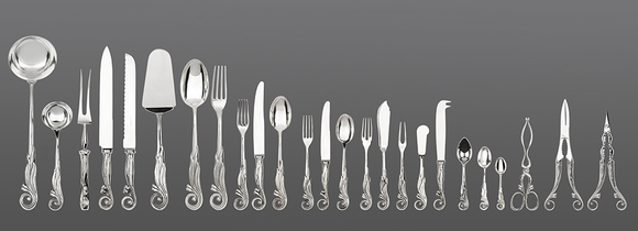 Silver Puzzles Cutlery