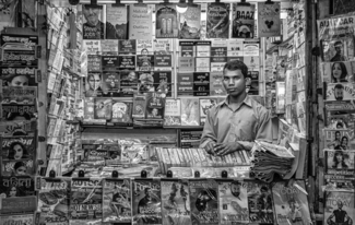Newsagent, Delhi Train station
