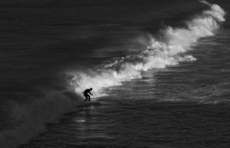 Surfer In Last Light