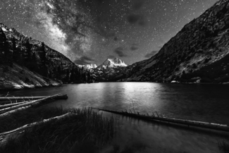 The Milky Way rises over Barney Lake