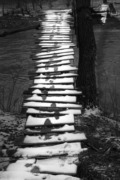 Small bridge in the winter