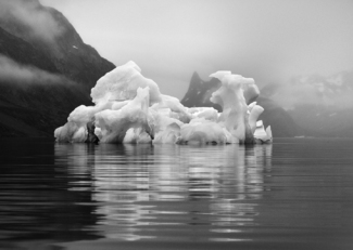 Blue Iceberg In Fog Greenland 7022