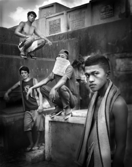 Boys from Navotas cemetery 2