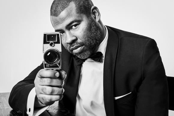 Director Jordan Peele with His Weapon of Choice