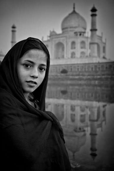 Girl at the Yamuna River