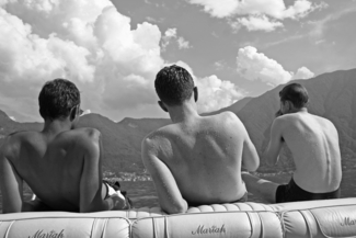 boys at lake como