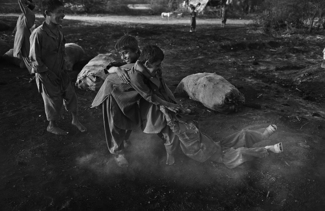 Children at Charcoal Kiln