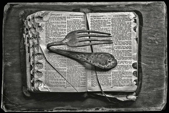 Bent fork on Bible