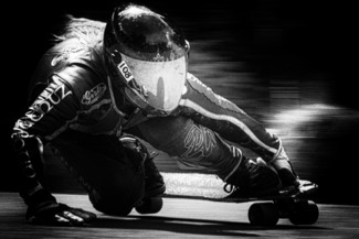 Female Longboard Racer