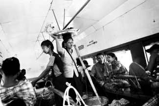 Life on Burmese Train
