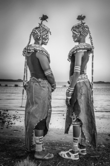 Rendille Sisters on the shores of Lake Turkana