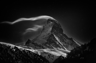 Matterhorn: Night Clouds #3