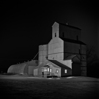 Grain Elevator at NIght, Roca, Nebraska