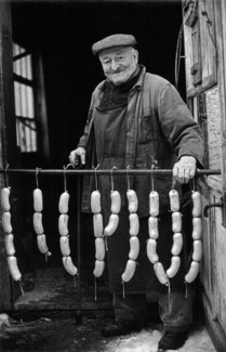 Albert Hanne with Sausages