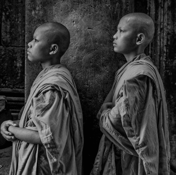 Novice Monks, Angkor Complex, Cambodia