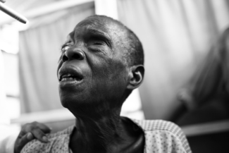 Blind Woman, Rwandan Refugee Camp