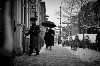 Heading to the Synagogue in Brooklyn