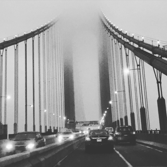 Foggy Bridge in NYC