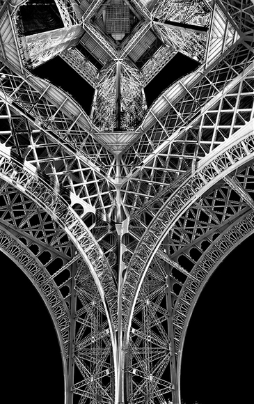 Solarized View Eiffel Tower