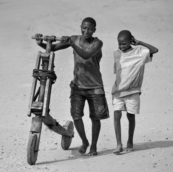 Ugandan Boys with Bike