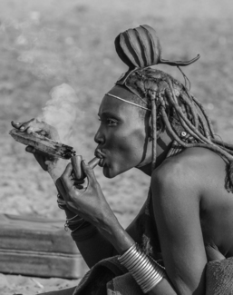 Himba Smoking Break