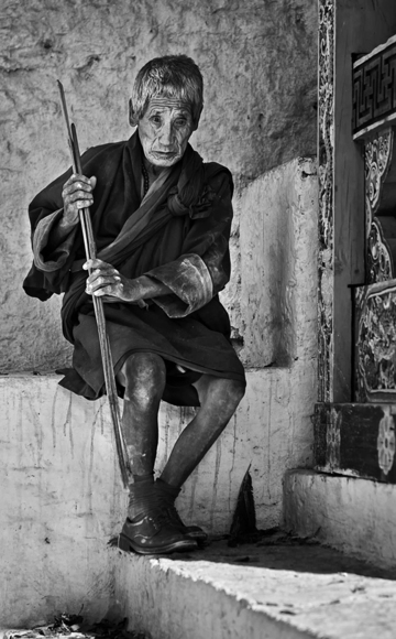 Blind monk of Bhutan