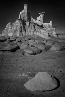 Hoodoo Ridge, Bisti Badlands, New Mexico