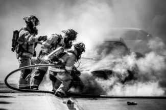 Fire Men B&W