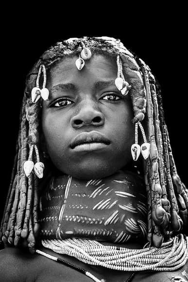 Angola Girl With Clay Necklace
