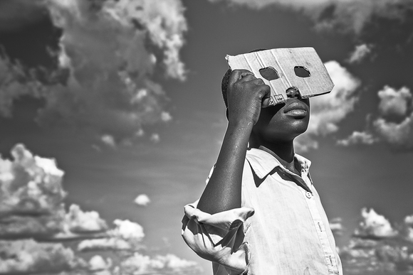 Cardboard Glasses, Total Solar Eclipse, Uganda