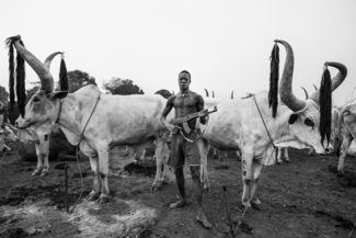 Mundari Man With Rifle