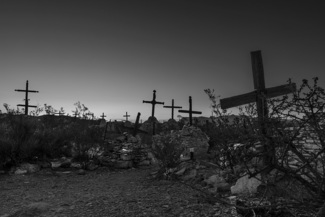 Desert Cemetery at Sunrise